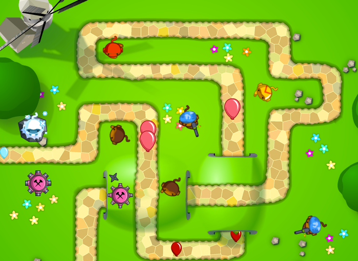 Bloons Tower Defense 5 in action