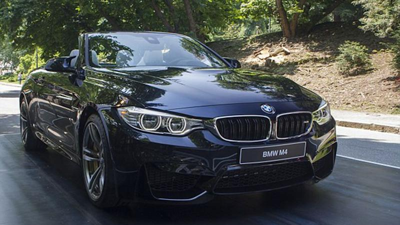Since winning the Powerball in 2014, he purchased a $200,000 BMW M4 convertible like this one. Source: Getty Images