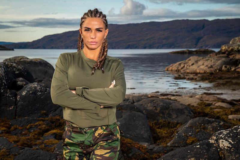 Katie Price faced the challenge of 'Celebrity SAS: Who Dares Wins'. (Channel 4)