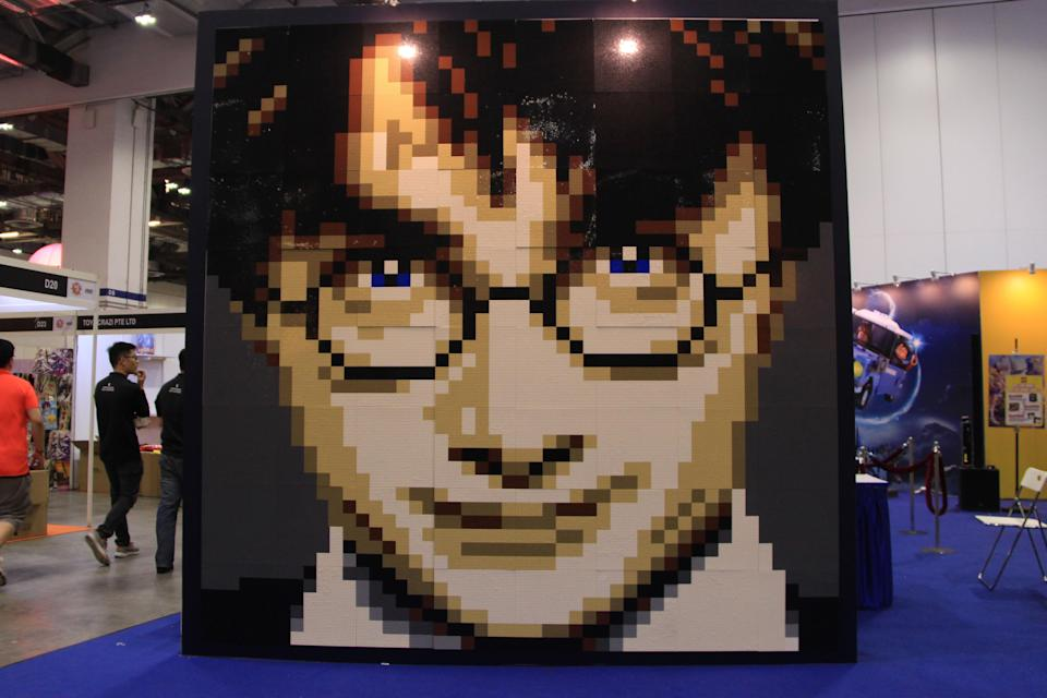 Harry Potter mosaic wall at the Lego booth at the Singapore Toy, Game and Comic Convention. (PHOTO: Abdul Rahman Azhari/Yahoo Lifestyle Singapore)