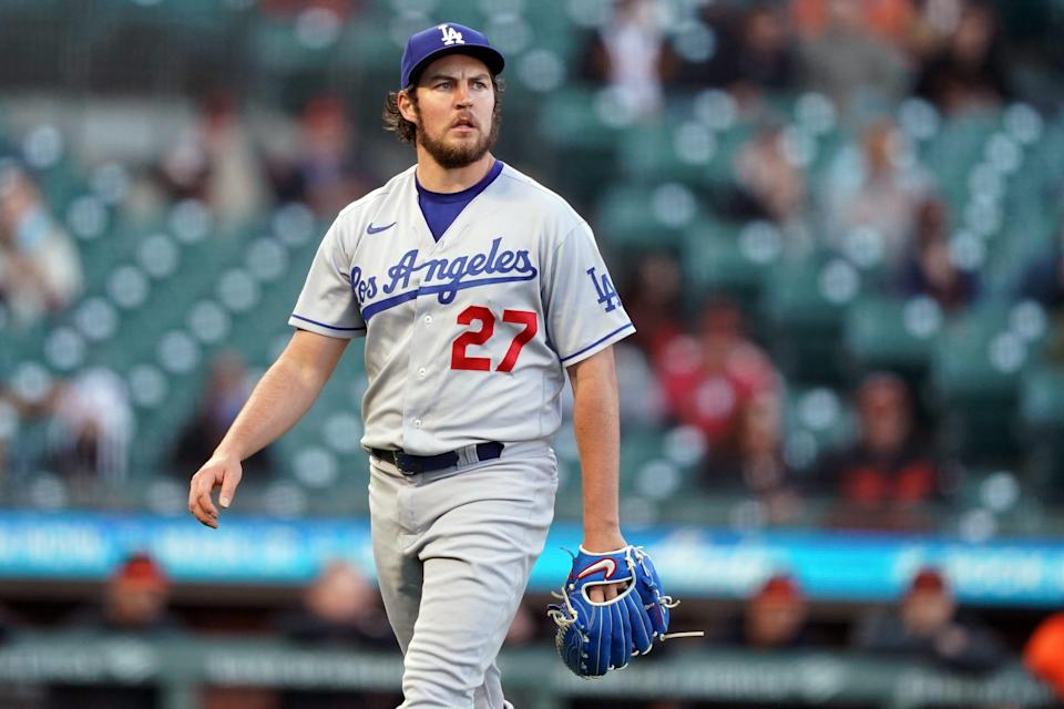 Trevor Bauer has an 8-5 record with a 2.59 ERA this season with the Dodgers.