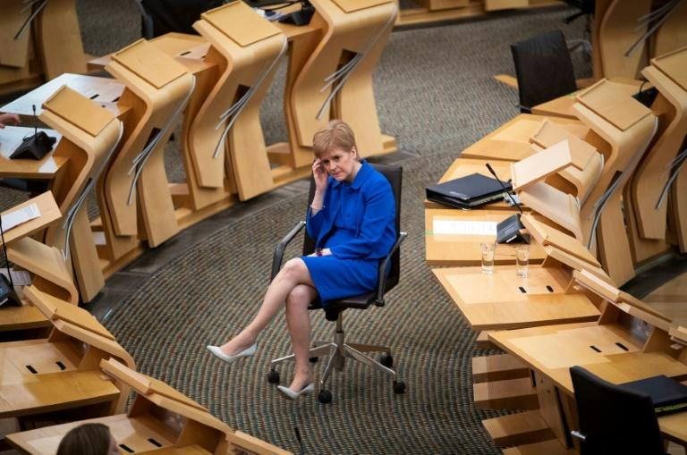 Scotland's First Minister Nicola Sturgeon said the lockdown there remain in place at least until mid-February
