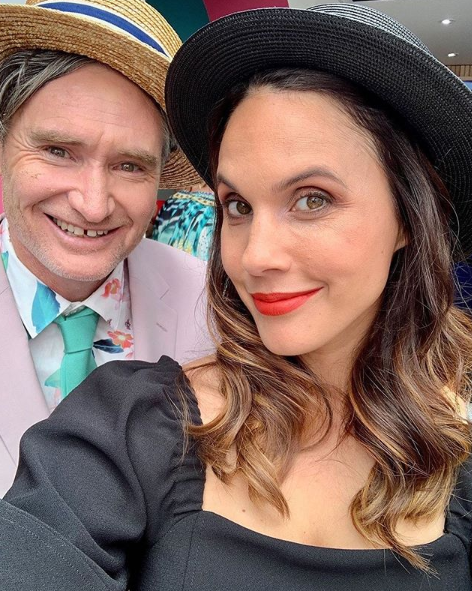 Hughesy and his wife Holly at the Melbourne Cup in 2019. Photo: Instagram/dhughesy.