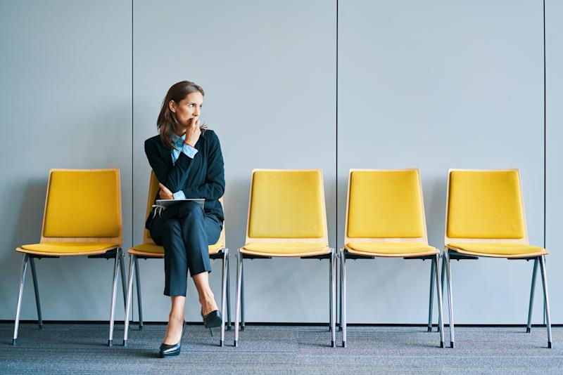 Stressful young woman waiting for job interview (Photo: BartekSzewczyk via Getty Images)