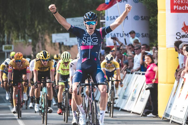 Jordi Meeus records the stage 2 win at Czech Tour