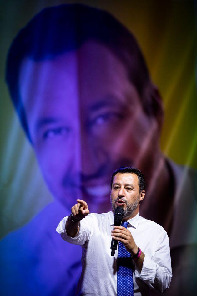 PIAZZA SOLFERINO, TURIN, ITALY - 2021/09/09: Matteo Salvini speaks during an event part of Paolo Damilano electoral campaign for Mayor of Turin. (Photo by Nicolò Campo/LightRocket via Getty Images) (Photo: Nicolò Campo via Getty Images)
