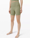 """<p><strong>Lululemon</strong></p><p>lululemon.com</p><p><a href=""""https://go.redirectingat.com?id=74968X1596630&url=https%3A%2F%2Fshop.lululemon.com%2Fp%2Fwomen-shorts%2FAlign-Short-6-MD%2F_%2Fprod9490018&sref=https%3A%2F%2Fwww.seventeen.com%2Ffashion%2Fg30519407%2Fdoes-lululemon-have-sales%2F"""" rel=""""nofollow noopener"""" target=""""_blank"""" data-ylk=""""slk:Shop Now"""" class=""""link rapid-noclick-resp"""">Shop Now</a></p><p><strong><strong><del>$58</del> $39 (32% off)</strong></strong></p><p>Lululemon's cult-favorite leggings are a constant feature on the """"We Made Too Much"""" tab, but sizes sell out crazy fast–especially the short versions. Shop this sage iteration for $39 while you still can.</p>"""