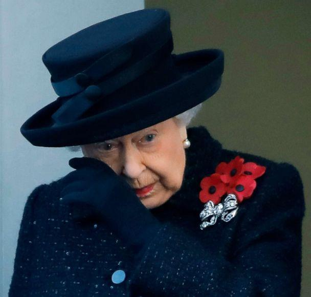 PHOTO: Britain's Queen Elizabeth II attends the Remembrance Sunday ceremony at the Cenotaph on Whitehall in central London, Nov. 10, 2019. (Tolga Akmen/AFP/Getty Images)