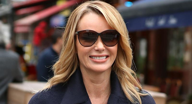 Amanda Holden wears pyjamas for Heart Breakfast