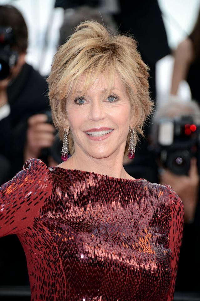"CANNES, FRANCE - MAY 18:  Actress Jane Fonda attends the ""Madagascar 3: Europe's Most Wanted"" Premiere during the 65th Annual Cannes Film Festival at Palais des Festivals on May 18, 2012 in Cannes, France.  (Photo by Pascal Le Segretain/Getty Images for Paramount)"