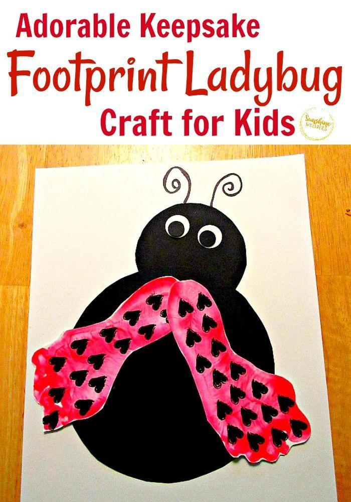 """<p>Painted feet transform into ladybug wings in this project for little ones. Finish the look with heart-shaped stamps.<a href=""""https://sunshinewhispers.com/footprint-ladybug-crafts-for-kids/"""" rel=""""nofollow noopener"""" target=""""_blank"""" data-ylk=""""slk:Get the tutorial at Sunshine Whispers »"""" class=""""link rapid-noclick-resp""""><br><br><em>Get the tutorial at Sunshine Whispers »</em></a></p>"""