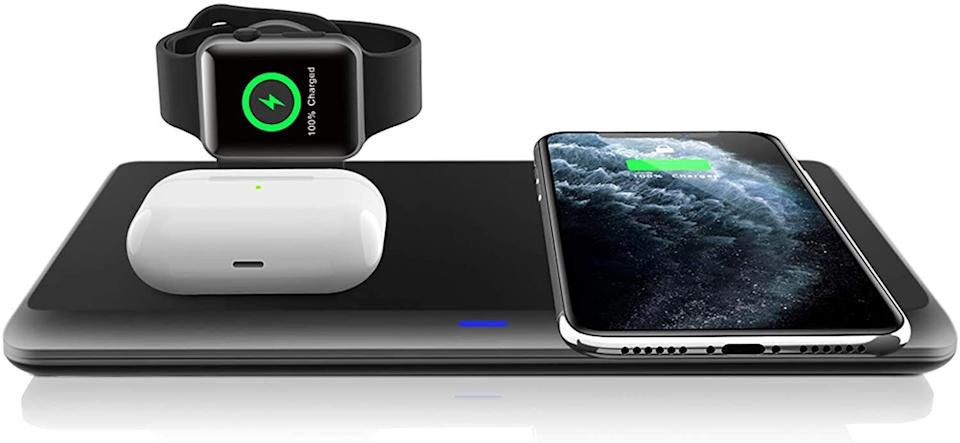 "You won't have to worry about where all your cable are with this wireless charging pad, which can power up your AirPods, iPhone and Apple Watch all in one place. Keep it on your desk or nightstand. <a href=""https://amzn.to/3o5Nv6f"" target=""_blank"" rel=""noopener noreferrer"">Find it on sale for $17 at Amazon</a>."