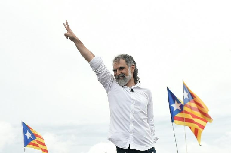 """Catalan grassroots separatist Jordi Cuixart vowed to bring """"hundreds of thousands"""" of supporters onto the streets (AFP/Josep LAGO)"""