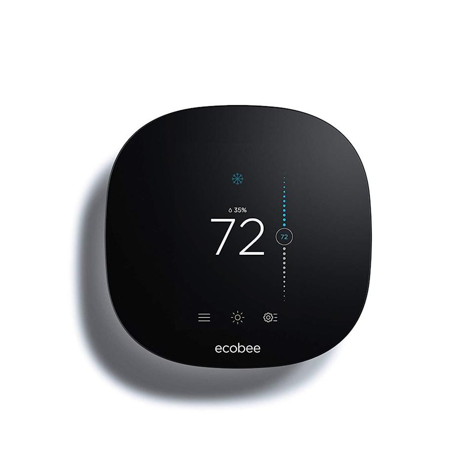 """<h3><a href=""""https://www.amazon.com/Ecobee3-Thermostat-Wi-Fi-Works-Alexa/dp/B01K48T09Y"""" rel=""""nofollow noopener"""" target=""""_blank"""" data-ylk=""""slk:Ecobee Smart Thermostat"""" class=""""link rapid-noclick-resp"""">Ecobee Smart Thermostat</a></h3><br>Is there anything more brutal than waking up to a freezing cold bedroom? A Smart Thermostat makes sure your room is at a comfortable temperature upon your waking hour, making it much easier to slide out of bed. <br><br><br><br><strong>Ecobee</strong> Smart Thermostat, $, available at <a href=""""https://www.amazon.com/Ecobee3-Thermostat-Wi-Fi-Works-Alexa/dp/B01K48T09Y"""" rel=""""nofollow noopener"""" target=""""_blank"""" data-ylk=""""slk:Amazon"""" class=""""link rapid-noclick-resp"""">Amazon</a>"""