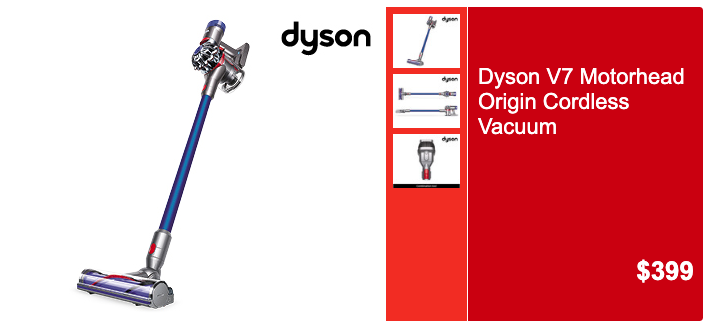 Aldi Special Buys, Saturday 14 December: Dyson V7 Motorhead Origin Cordless Vacuum. (Source: Aldi)