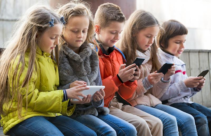 French children aged between three and 15 will not be able to use their mobile phones at school following a ban: Getty istock