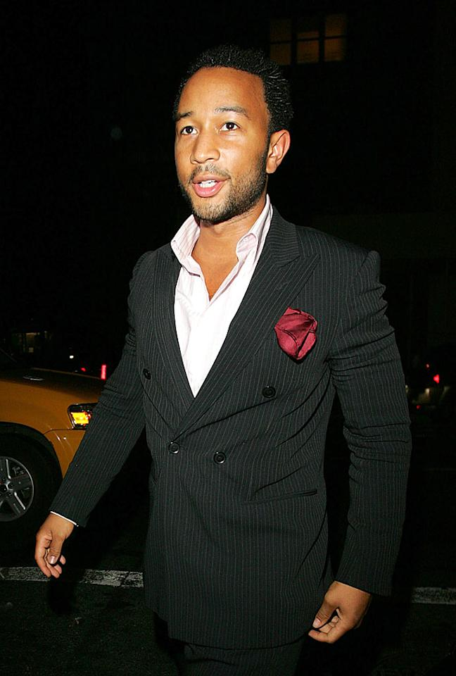 "John Legend looks suave and sexy. Ahmad Elatab/Jackson Lee/<a href=""http://www.splashnewsonline.com/"" target=""new"">Splash News</a> - September 10, 2007"
