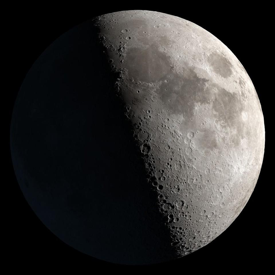 <p>First and third quarter moons occur when the Moon sits at a 90 degree angle between the Earth and Sun. The half of the Moon that we see is illuminated by the sun.  </p>