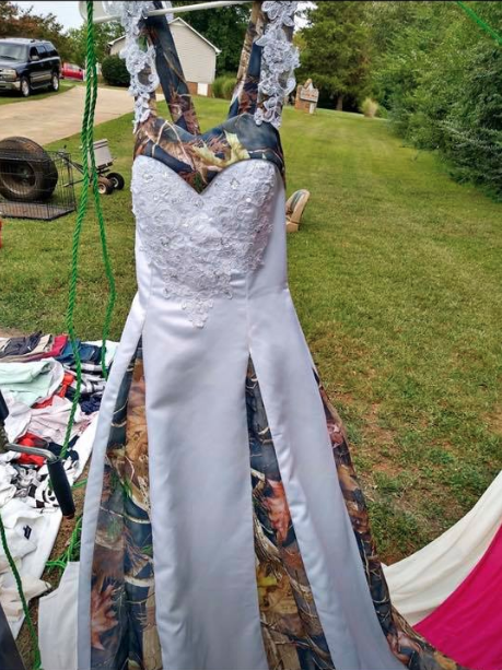 second hand camouflage wedding dress for sale