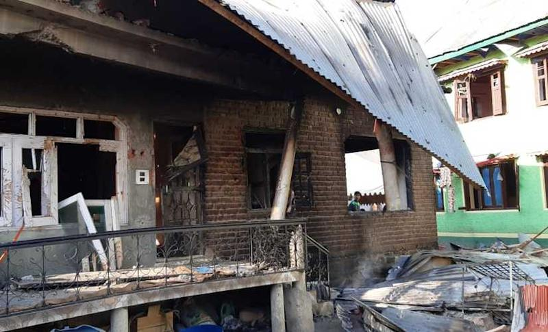 The Mir's family house, which was destroyed during the encounter. Sameer Yasir