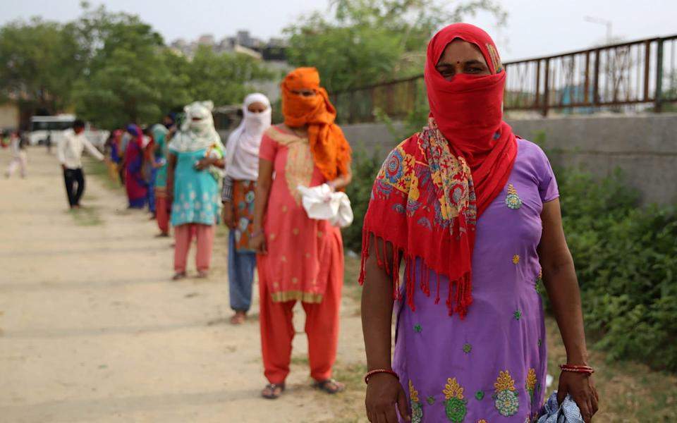 Women queuing for food aid - India cannot afford to enter into a second lockdown like Israel - Cheena Kapoor