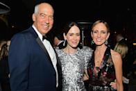 <p>Gary Newman, Sarah Paulson, and Dana Walden attended the Fox Broadcasting Co., Twentieth Century Fox Television, FX, and <em>National Geographic</em> after-party at Vibiana. (Photo by Emma McIntyre/Getty Images) </p>
