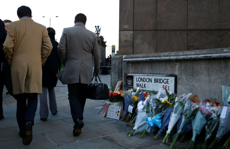 Site of a fatal attack on London Bridge in London