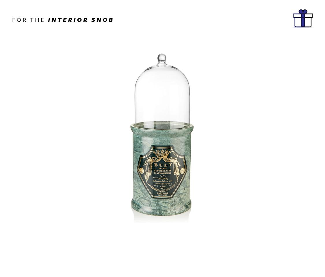 "<p>A decadent candle can change the mood of a home and this Buly 1803 Campagne d'italia scented candle is also the most stunning candle around. It does in a marble-esque holder so it looks like an ancient Indian vase! Buly 1803 Campagne d'Italie scented candle, $160, <a rel=""nofollow"" href=""https://www.net-a-porter.com/us/en/product/831407/buly_1803/campagne-d-italie-scented-candle"">Net-a-Porter.com</a> </p>"