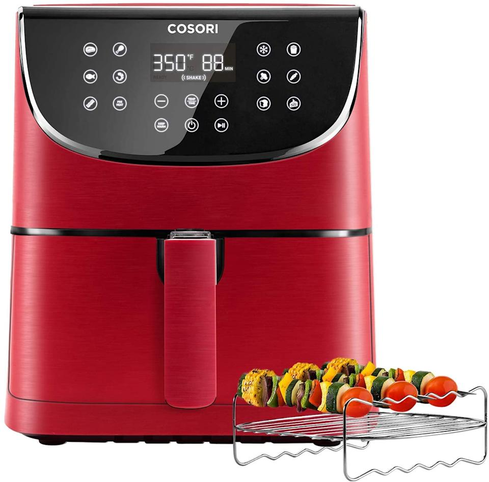COSORI Air Fryer 5.8QT in Red - on sale at Amazon Canada.