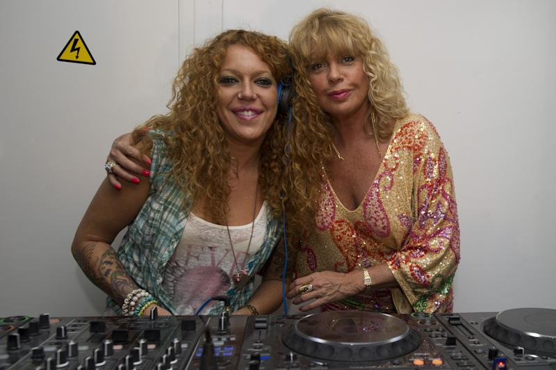 MARBELLA, SPAIN - JUNE 30: Barbara Rey (R) attends the performance of Sofia Cristo as DJ (L) on June 30, 2012 in Marbella, Spain. (Photo by Europa Press/Europa Press via Getty Images)