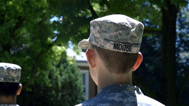 PHOTO: Cadet Aiden Moose dreams of joining the military one day. At the moment, he is barred from enlisting because he is deaf. (Janet Weinstein/ABC News)