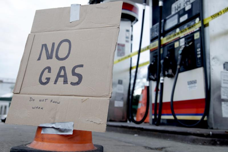 Fuel shortage means gridlock in lines for gasoline