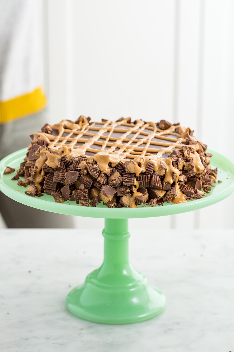 """<p>Peanut butter lovers, this is the dessert for you.</p><p>Get the recipe from <a href=""""https://www.delish.com/cooking/recipe-ideas/recipes/a53930/reeses-tiger-pie-recipe/"""" rel=""""nofollow noopener"""" target=""""_blank"""" data-ylk=""""slk:Delish"""" class=""""link rapid-noclick-resp"""">Delish</a>.</p>"""