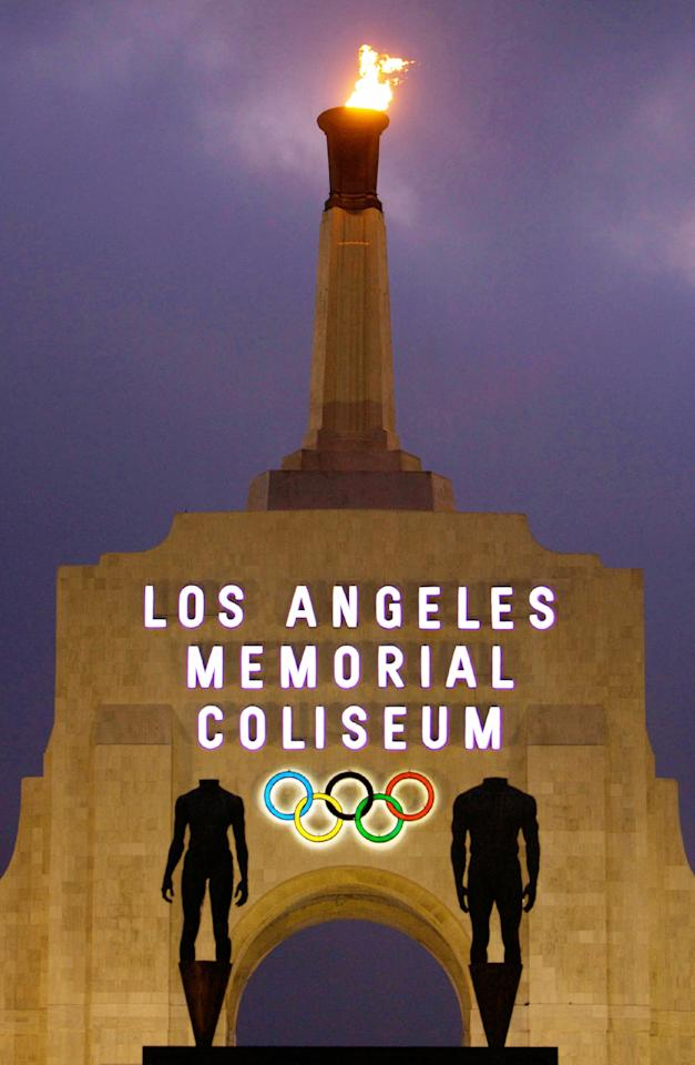 <p>FILE – This Feb. 13, 2008, file photo shows the facade of The Los Angeles Memorial Coliseum in Los Angeles. It was announced Monday, July 31, 2017, that Los Angeles has reached an agreement with international Olympic leaders that will open the way for the city to host the 2028 Summer Games, while ceding the 2024 Games to rival Paris. (AP Photo/Damian Dovarganes, File) </p>