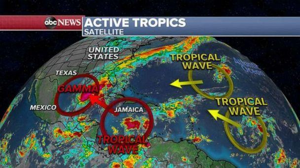 PHOTO: Right behind Gamma, there is another disturbance being monitored in the Caribbean Sea. (ABC News)