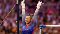 """<ul> <li><strong>Net Worth:</strong> Unknown</li> </ul> <p><span>Gymnast Suni Lee qualified for elite status in her sport when she was just 11 years old, according to The Independent. She competed as a junior in the 2018 US National Championships. She then went on to live up to the enormous hype surrounding her ascent when she won three medals at the 2021 Tokyo Olympics.</span></p> <p><em><strong>Better Together: <a href=""""https://www.gobankingrates.com/net-worth/celebrities/richest-celebrity-couples/?utm_campaign=1144161&utm_source=yahoo.com&utm_content=4&utm_medium=rss"""" rel=""""nofollow noopener"""" target=""""_blank"""" data-ylk=""""slk:24 Celebrity Couples Worth Hundreds of Millions"""" class=""""link rapid-noclick-resp"""">24 Celebrity Couples Worth Hundreds of Millions</a></strong></em></p> <p><small>Image Credits: Jeff Roberson/AP/Shutterstock</small></p>"""