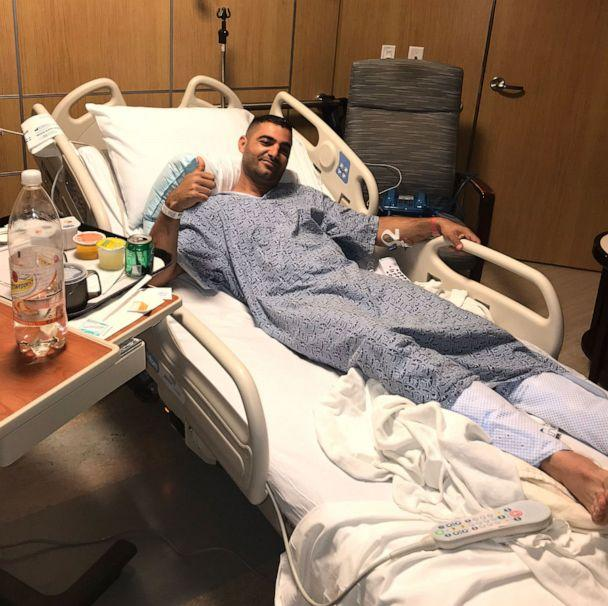 PHOTO: Almog Peretz is pictured in the hospital after surviving a shooting at the Chabad of Poway Synagogue outside of San Diego, Calif., on April 27, 2019.  (Courtesy Peretz Family)
