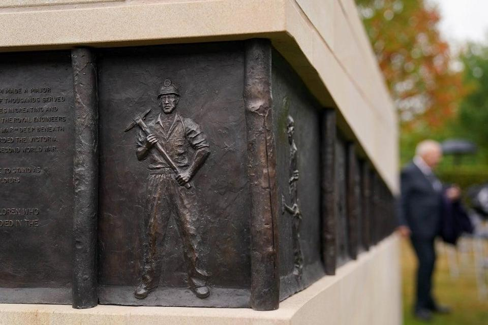 The frieze on the National Miners' Memorial depicts the history of the industry in the UK (Jacob King/PA) (PA Wire)