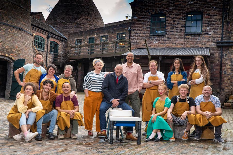 Great Pottery Throw Down - Potters with Presenter and Judges. (C4)