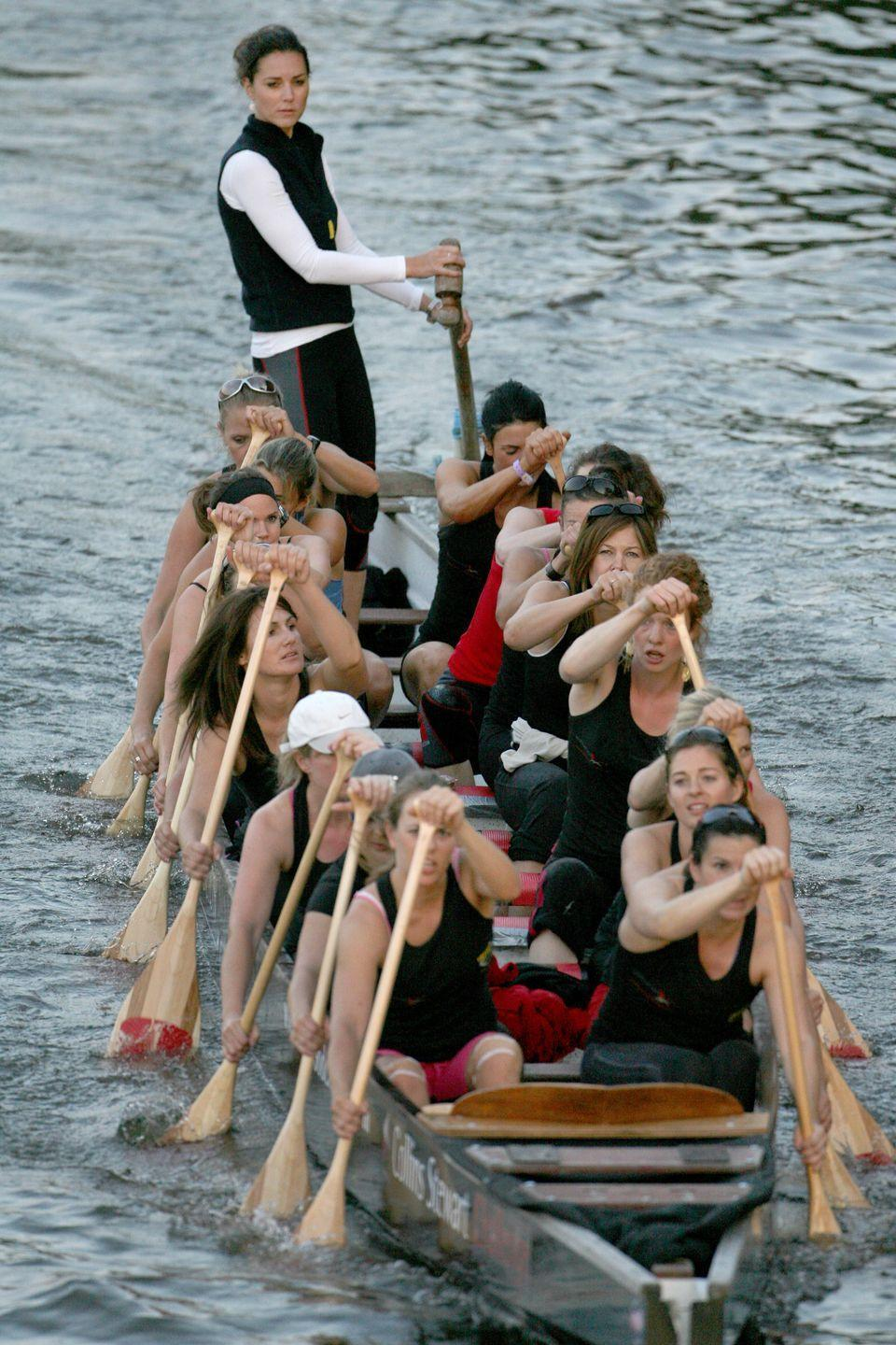 <p>In the midst of a training session with the Sisterhood Cross Channel rowing crew. </p>