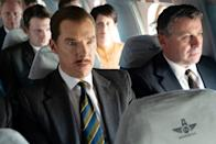 <p>Benedict Cumberbatch, Rachel Brosnahan, and more favorites star in this historical drama about a British businessman who's recruited by both M16 and the CIA to deliver secret messages to an agent in Russia during the Cold War. The tense espionage story, based on true events, will have you hooked until the end. </p> <p><em>In theaters now</em></p>