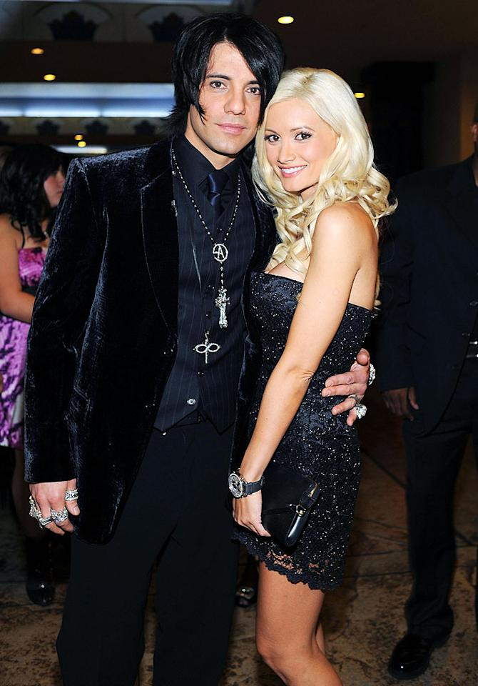 """Kudos to Holly Madison for pulling the plug on her stale relationship with Hugh Hefner. Did she trade up? We think so. Celebrity magician Criss Angel may be a tad cheesy, but he's a millionaire many times over and happens to be only 11 years her senior, as opposed to Hef's 54. Denise Truscello/<a href=""""http://www.wireimage.com"""" target=""""new"""">WireImage.com</a> - October 31, 2008"""