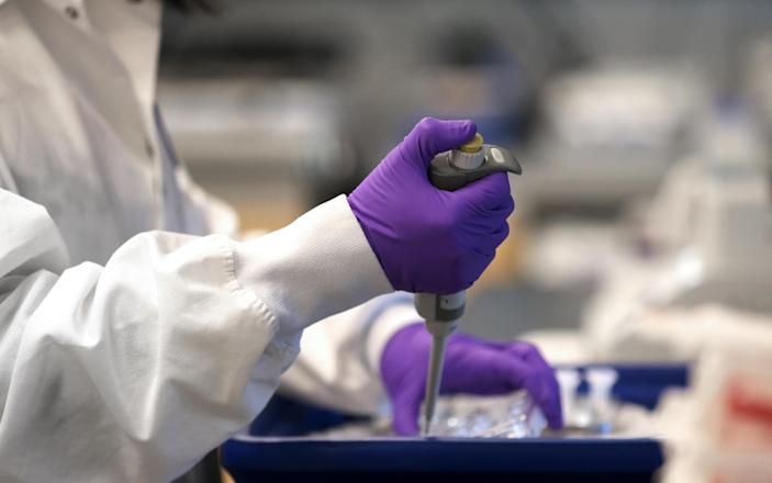 Moderna's vaccine is the first coronavirus vaccine to be tested in humans. (David L Ryan/Boston Globe via Getty Images)