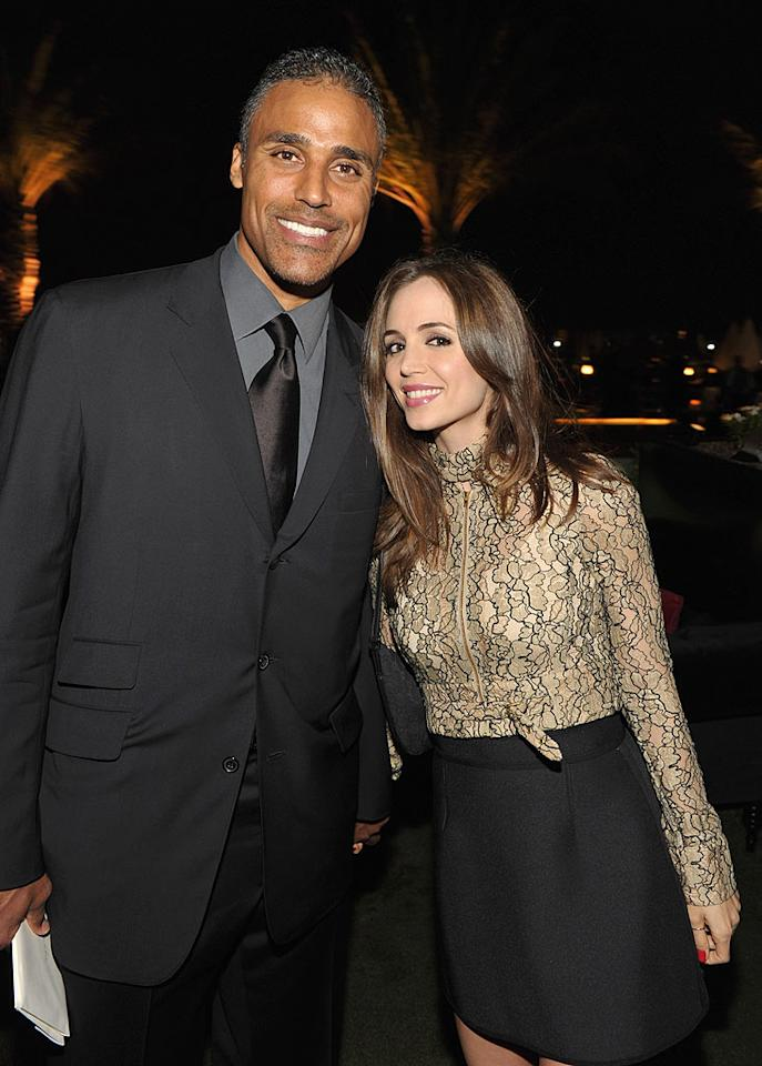 """Dancing With the Stars"" contestant Rick Fox and his gorgeous gal pal Eliza Dushku also attended the charity soiree. John Shearer/<a href=""http://www.wireimage.com"" target=""new"">WireImage.com</a> - September 29, 2010"