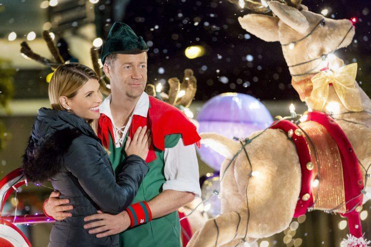 Lori Loughlin and Colin Ferguson in 2016's 'Every Christmas Has a Story' (Credit: Ricardo Hubbs/Crown Media)