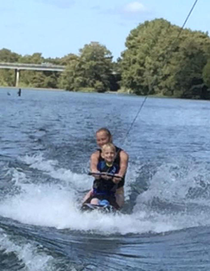 Andy out for a day of fun on the water with his mom, Cassi Free. (Cassi Free / Cassi Free)