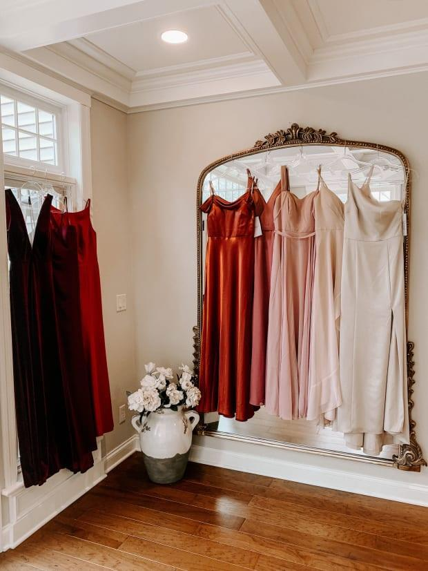 <em>A scene from a virtual styling appointment with Brideside (and also the apartment in which I'd like to shelter-in-place).</em>