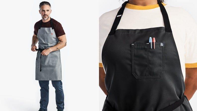 With aprons like these, it's either collaboration or healthy competition in the kitchen.