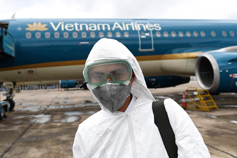 11,000 people have caught the virus on planes (AFP via Getty Images)