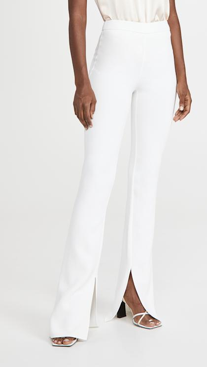 Cushnie High Waisted Pants with Slight Flare Leg